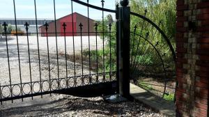 Prachtige automatische poort hekwerk close up